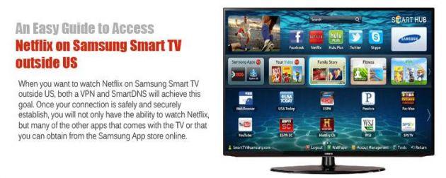 Netflix on Samsung Smart TV outside US? Done  - SecureKnow
