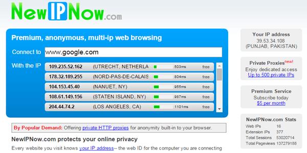 NewIPNow Proxy