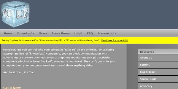 PeerBlock-Official-Website
